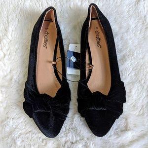 NWT Women's Black Velvet Flats